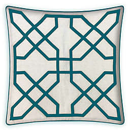 Asher Raised Embroidered 20-Inch Square Throw Pillow