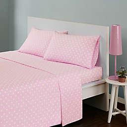 Mi Zone Polka Dot Twin Sheet Set in Pink