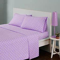 Mi Zone Polka Dot Full Sheet Set in Purple