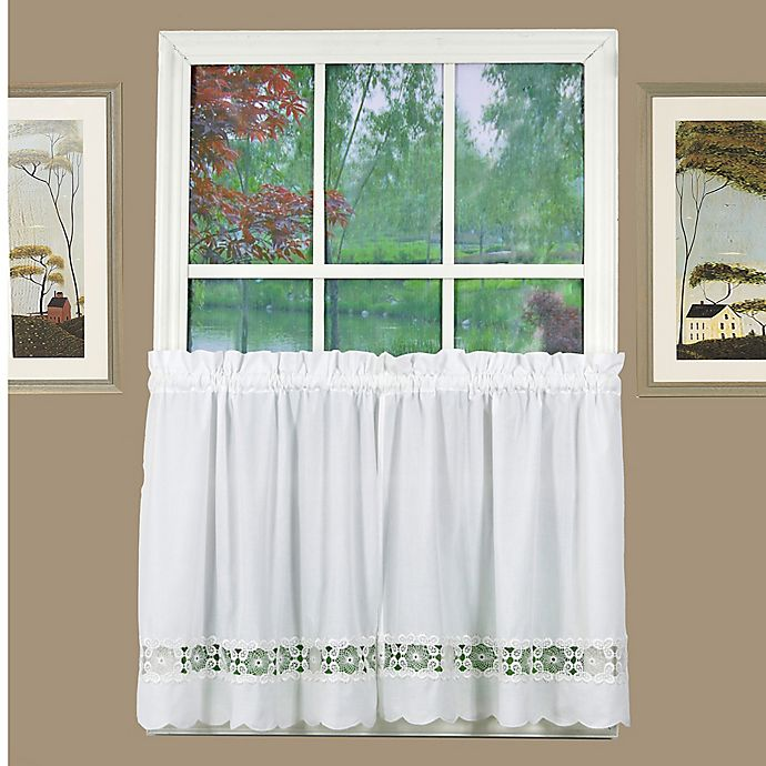 Alternate image 1 for Today's Curtain Caylee 24-Inch Kitchen Window Curtain Tier Pair in White