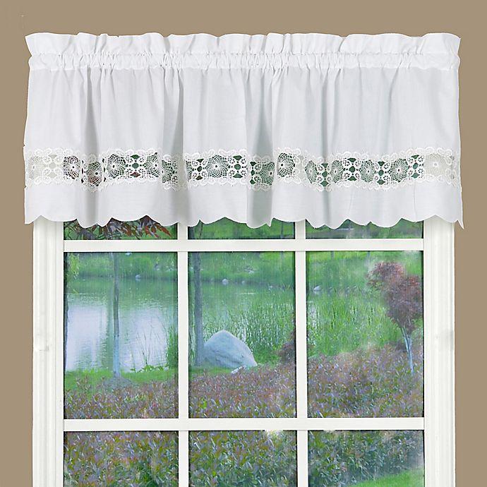 Today S Curtain Caylee Kitchen Window Valance Bed Bath Beyond