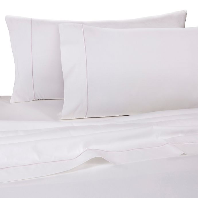 Alternate image 1 for Wamsutta® Dream Zone® 725-Thread-Count Queen Fitted Sheet in White