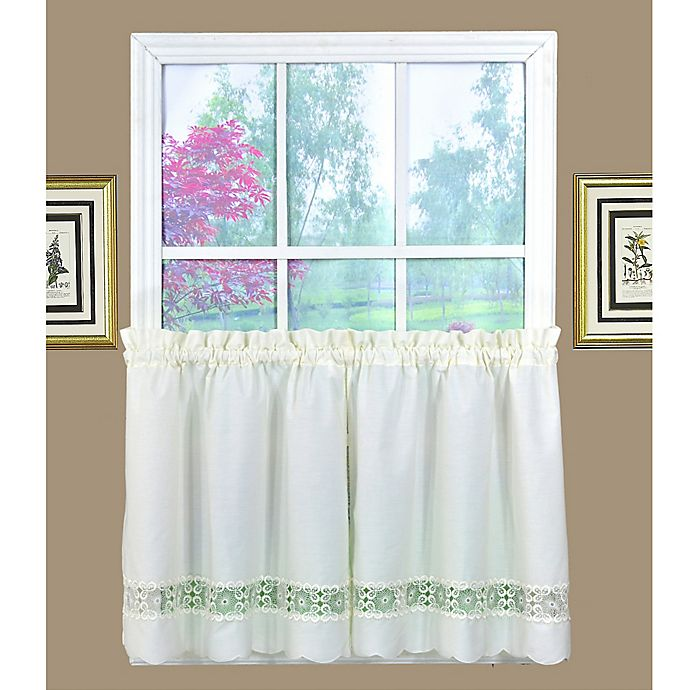 Alternate image 1 for Today's Curtain Caylee 36-Inch Kitchen Window Curtain Tier Pair in Ecru