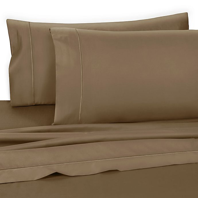 Alternate image 1 for Wamsutta® Dream Zone® 725-Thread-Count King Pillowcases in Taupe (Set of 2)