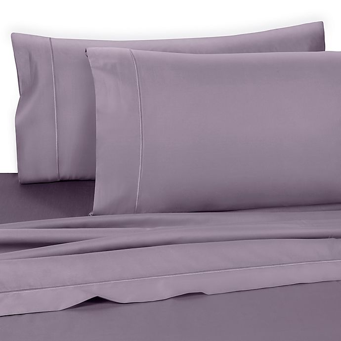 Alternate image 1 for Wamsutta® Dream Zone® Pima  725-Thread-Count Twin XL Flat Sheet in Lavender