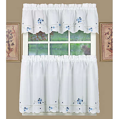 Today's Curtain Christine Kitchen Window Curtain Tier Pair and Valances