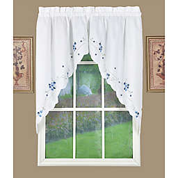 Today's Curtain Christine Kitchen Window Swag Pair