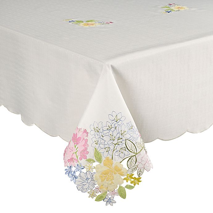 Alternate image 1 for Brianna Cutwork Tablecloth