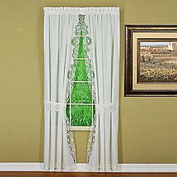 Today's Curtain Annabelle Rod Pocket Window Curtain Panel Pair