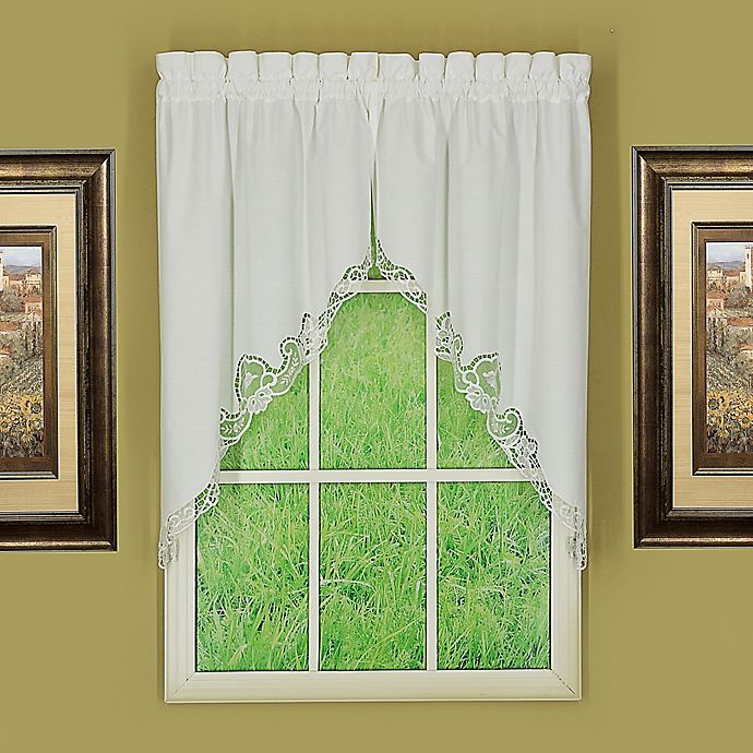 Alternate image 1 for Today's Curtain Annabelle Window Swag Pair in White