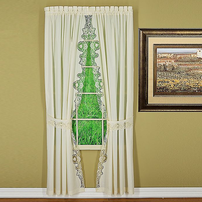 Alternate image 1 for Today's Curtain Annabelle 84-Inch Rod Pocket Window Curtain Panel Pair in Ecru