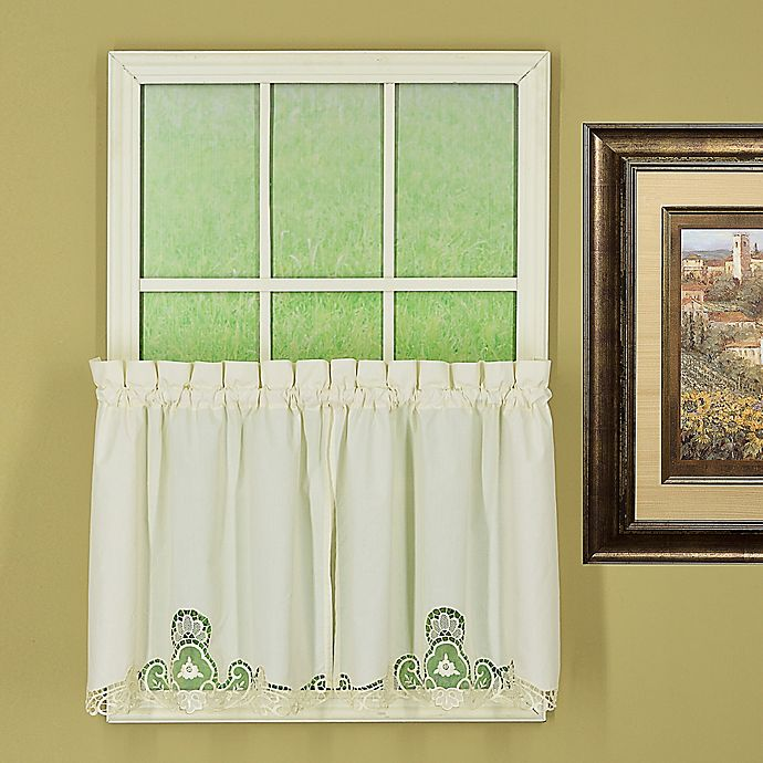 Alternate image 1 for Today's Curtain Annabelle 36-Inch Kitchen Window Curtain Tier Pair in Ecru