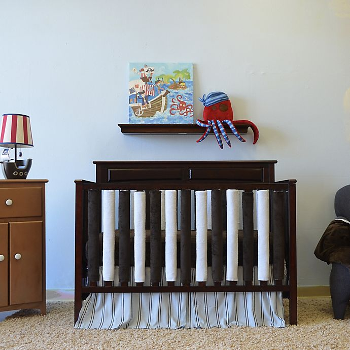 Alternate image 1 for Go Mama Go Designs® Crib Bedding Collection in Blue/Chocolate