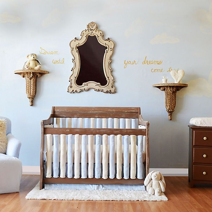 Alternate image 1 for Go Mama Go Designs® Crib Bedding Collection in Blue/Cream