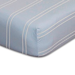 Go Mama Go Designs® Striped Fitted Crib Sheet in Blue/Cream