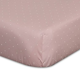 Go Mama Go Designs® Polka Dot Fitted Crib Sheet in Pink/Cream