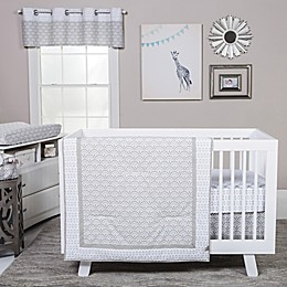 Trend Lab® Art Deco Crib Bedding Collection in Grey/White