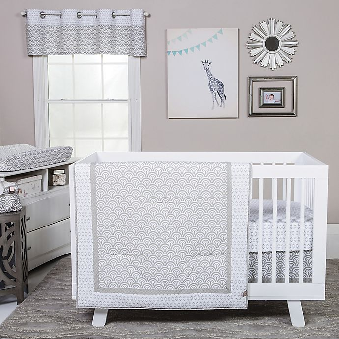 Alternate image 1 for Trend Lab® Art Deco Crib Bedding Collection in Grey/White