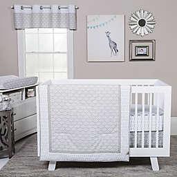 Trend Lab® Art Deco 3-Piece Crib Bedding Set in Grey/White