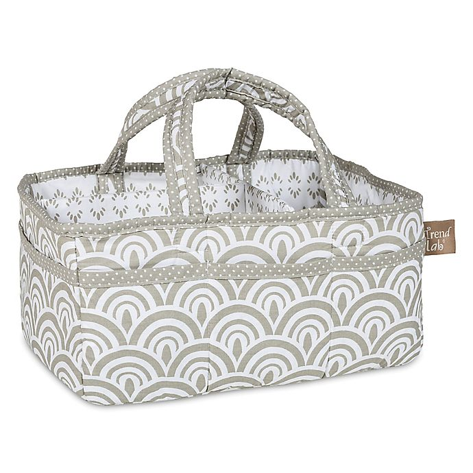 Alternate image 1 for Trend Lab® Art Deco Storage Caddy in Grey/White