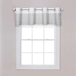 Trend Lab® Art Deco Grommet Top Window Valance in Grey/White
