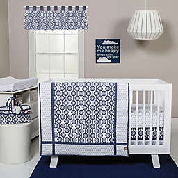 Trend Lab® Hexagon Crib Bedding Collection in Navy/White