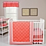 Part of the Trend Lab® Shell Crib Bedding Collection in Coral/White
