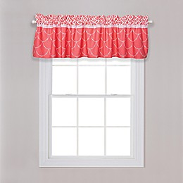 Trend Lab® Shell Floral Window Valance in Coral/White