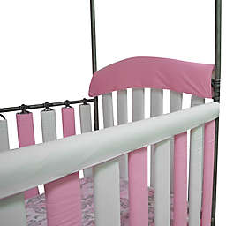 Go Mama Go Designs® 2-Pack Organic Cotton 30-Inch x 6-Inch Teething Guards in Pink/White