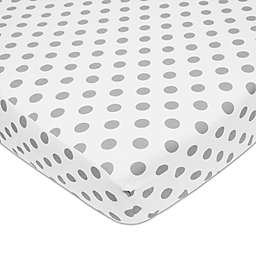 American Baby Company® Polka Dot Cotton Fitted Crib Sheet in Grey/White
