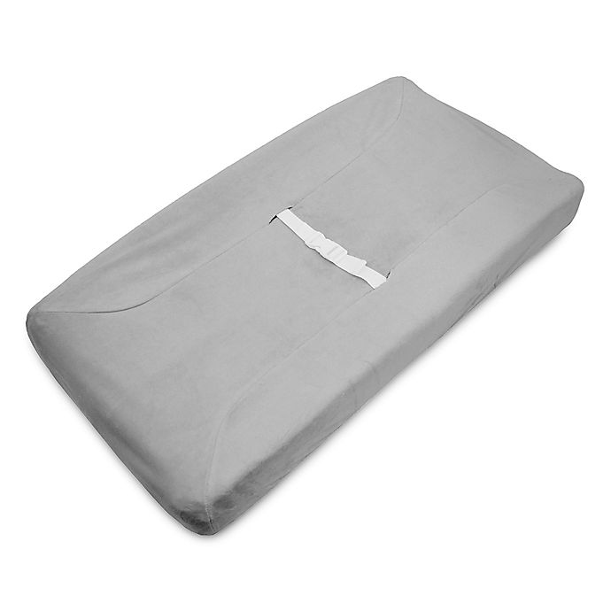 Alternate image 1 for American Baby Company® Heavenly Soft Chenille Contoured Changing Pad Cover in Grey