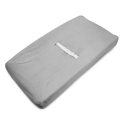 American Baby Company® Heavenly Soft Chenille Contoured Changing Pad Cover in Grey