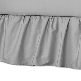 American Baby Company® Ruffle Crib Skirt in Grey