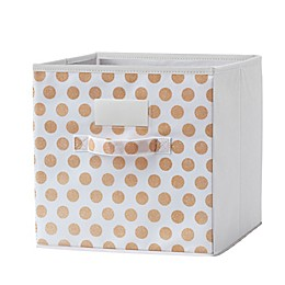 Modular Cube Grid Bin in Gold (Set of 2)