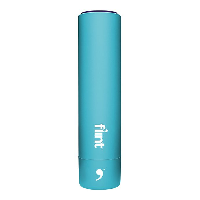 Alternate image 1 for Flint Lint Roller Device in Light Blue with Navy Blue Cap