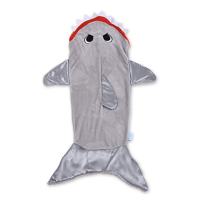 Alternate image 1 for Snuggie® Tails™ Children's Shark Blanket in Grey
