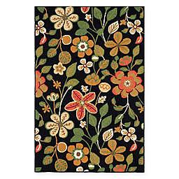 Safavieh Four Seasons Floral 5-Foot x 7-Foot Area Rug in Black Multi