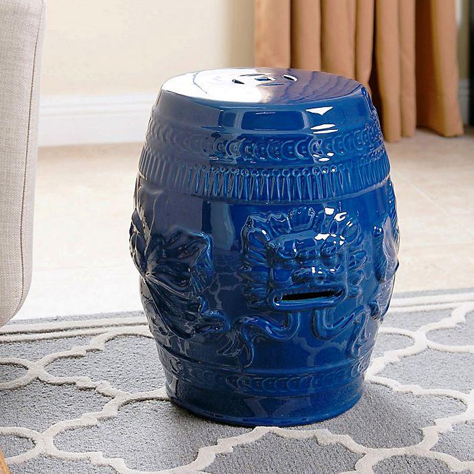Alternate image 1 for Abbyson Living® Chinese Lion Ceramic Garden Stool