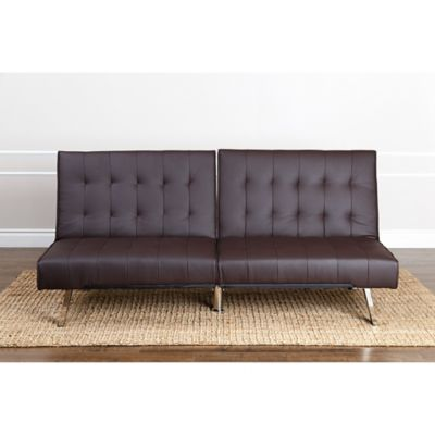 Outstanding Abbyson Living Jackson Faux Leather Futon Sofa Onthecornerstone Fun Painted Chair Ideas Images Onthecornerstoneorg