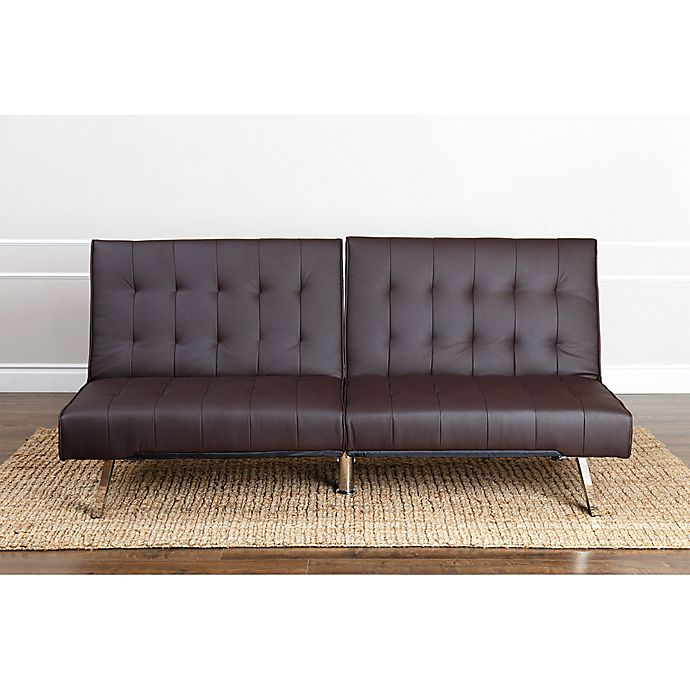 Fabulous Abbyson Living Jackson Faux Leather Futon Sofa Bed Bath Onthecornerstone Fun Painted Chair Ideas Images Onthecornerstoneorg