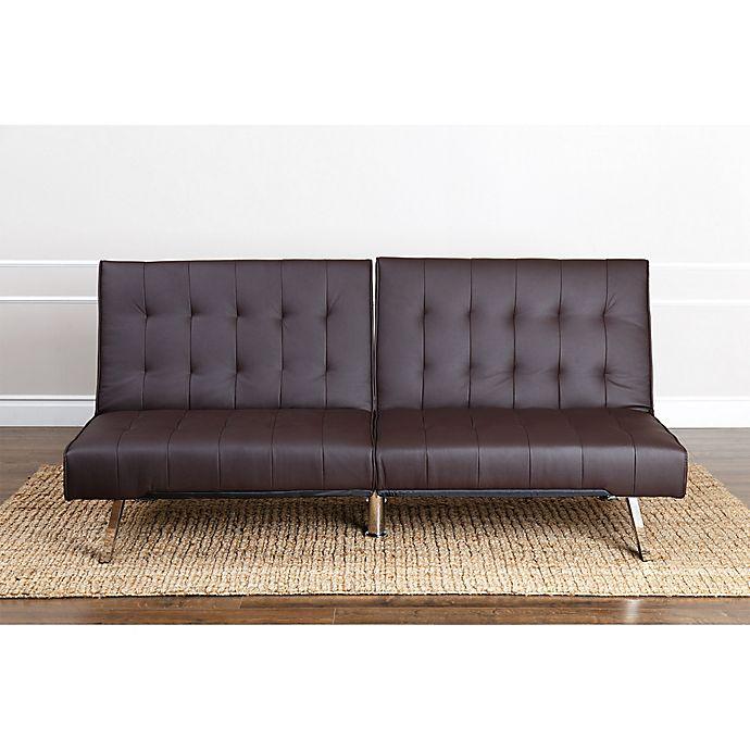 Abbyson Living Jackson Faux Leather Futon Sofa