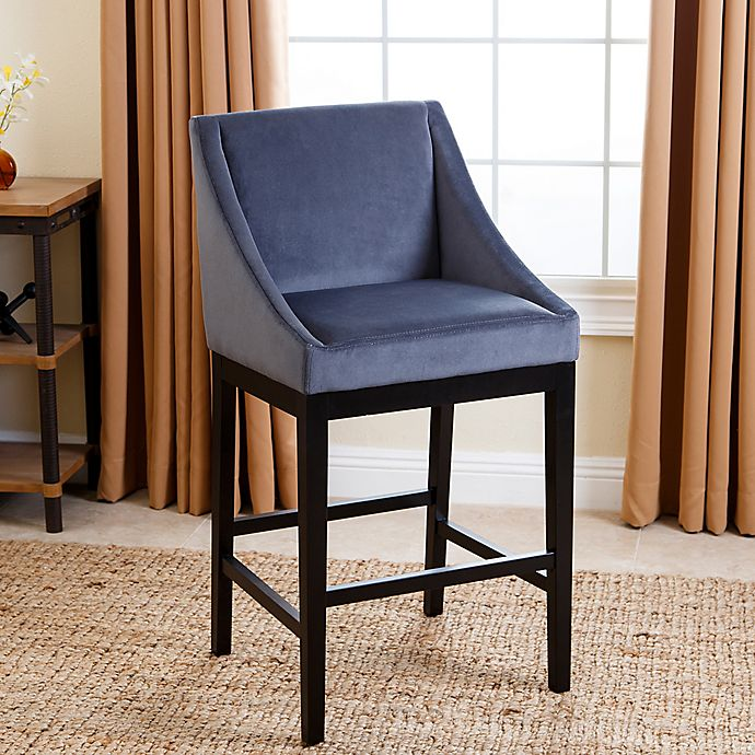 Abbyson Living 174 Hayes Velvet Bar Stool Bed Bath Amp Beyond