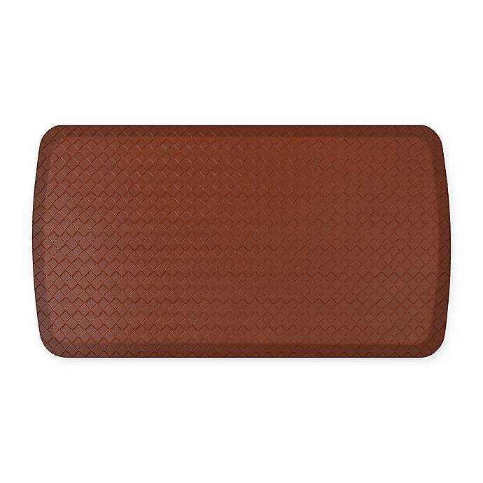 Alternate image 1 for GelPro® Elite Basketweave 20-Inch x 36-Inch Kitchen Mat in Chestnut