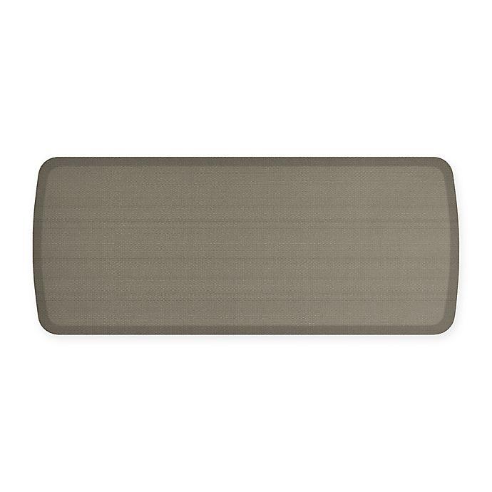 Alternate image 1 for GelPro® Elite Rattan 20-Inch x 48-Inch Kitchen Mat in Galveston Grey