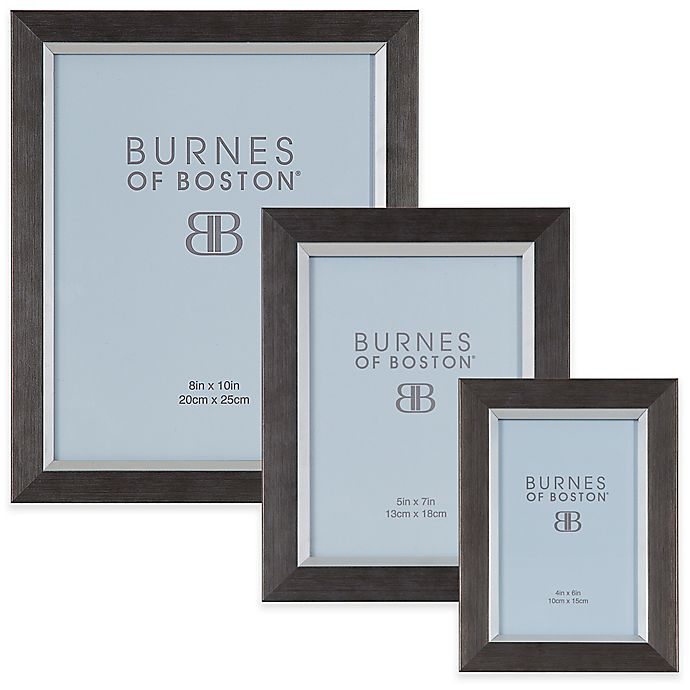 Burnes Of Boston Basic Frame In Charcoalsilver Bed Bath Beyond