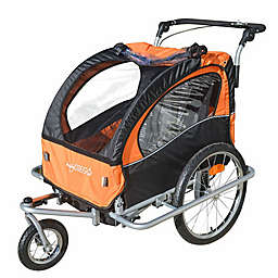 Baby Diego 2-in-1 Double Bike Trailer and Jogger Stroller