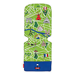 Maclaren® Paris City Map Universal Seat Liner in Green