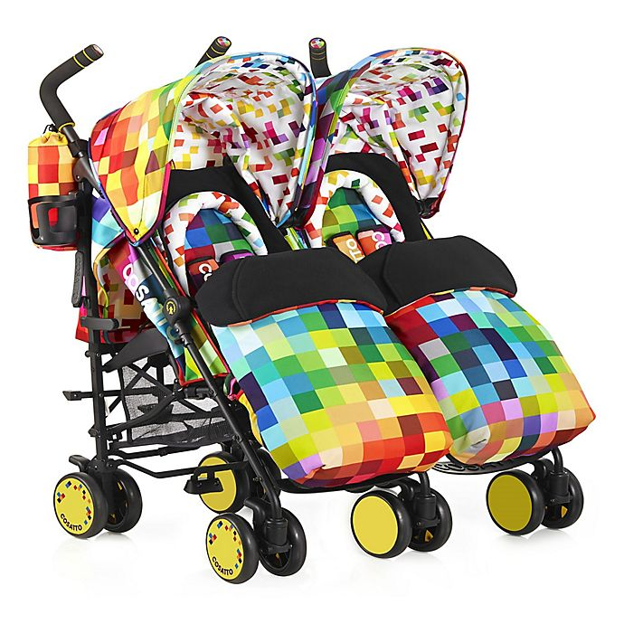 Alternate image 1 for Cosatto Supa Dupa Double Stroller in Pixelate Multi