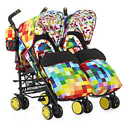 Cosatto Supa Dupa Double Stroller in Pixelate Multi