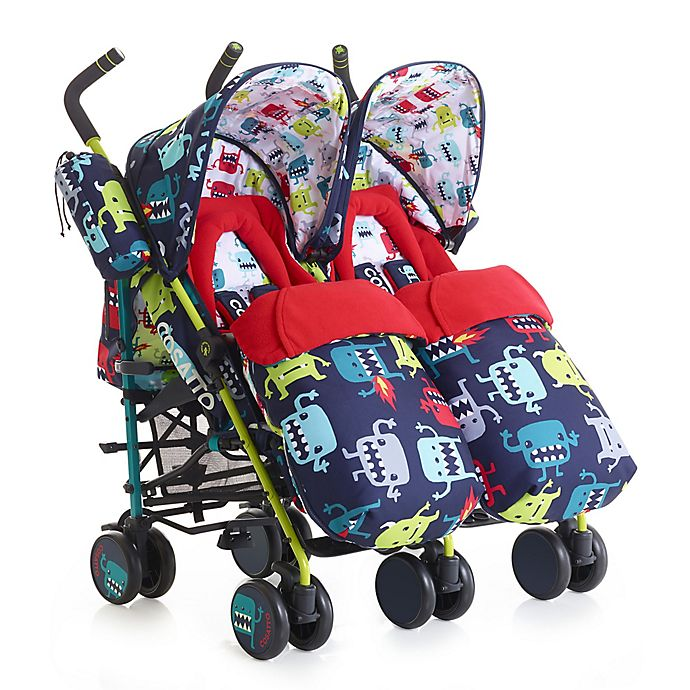 Alternate image 1 for Cosatto Supa Dupa Double Stroller in Monster 2 Multi